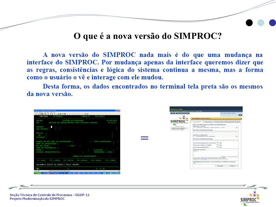 = O que é a nova versão do SIMPROC