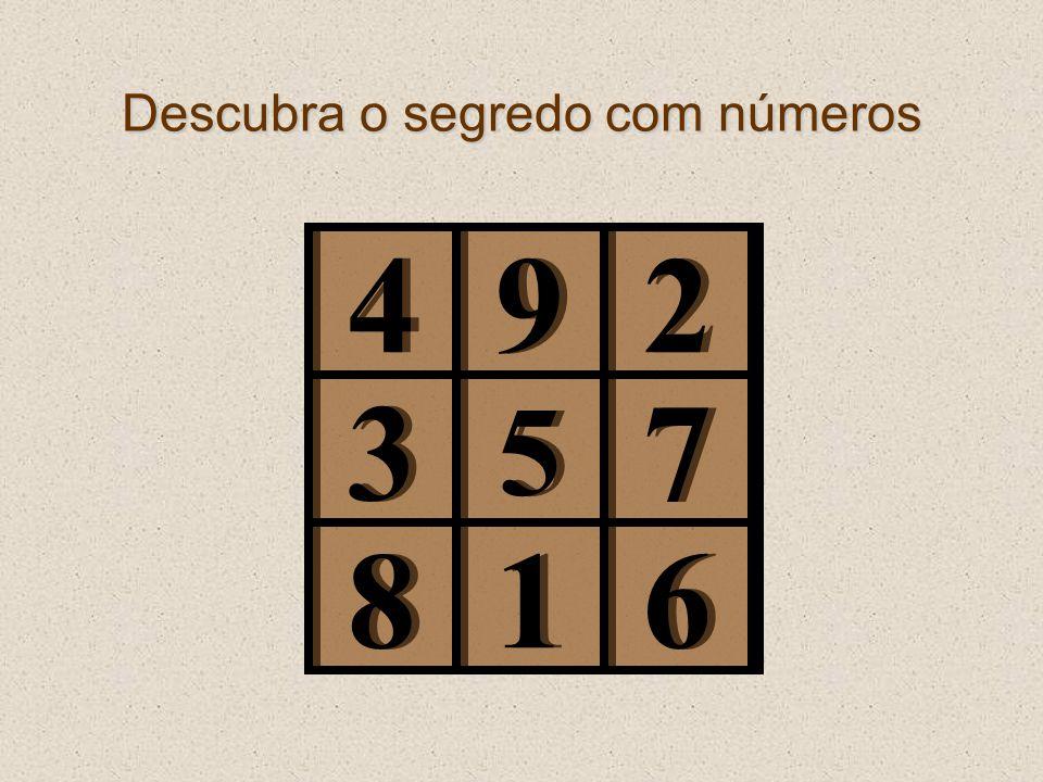 Descubra o segredo com números