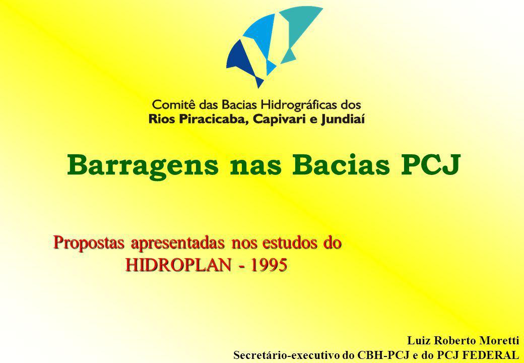Barragens nas Bacias PCJ