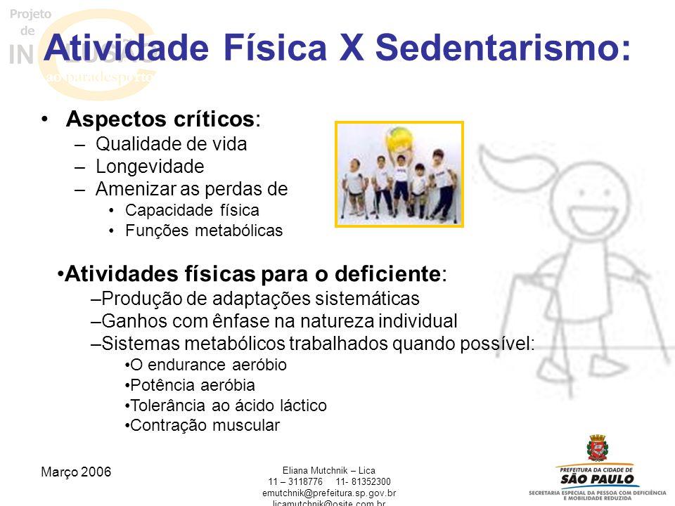 Atividade Física X Sedentarismo: