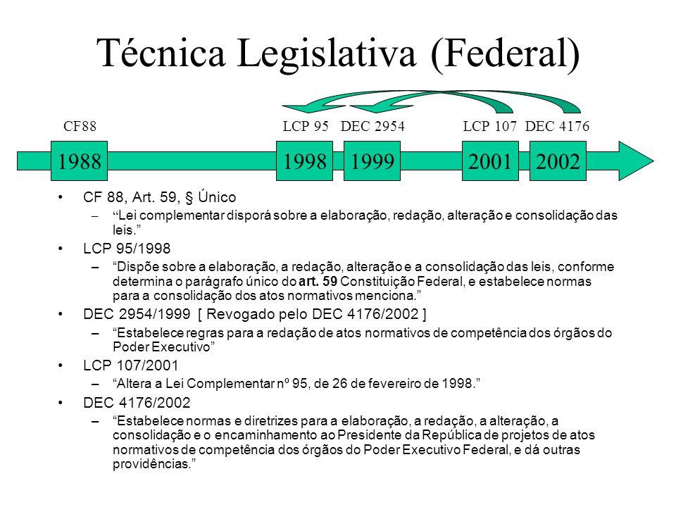 Técnica Legislativa (Federal)