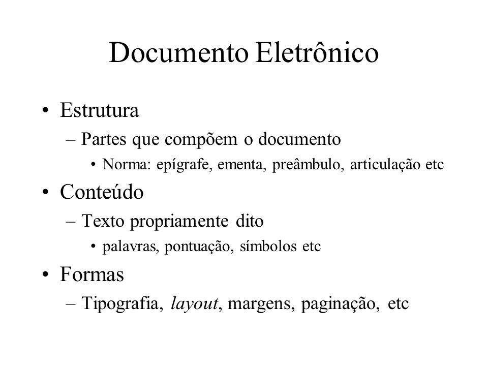 Documento Eletrônico Estrutura Conteúdo Formas