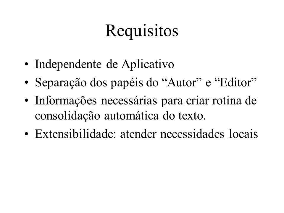 Requisitos Independente de Aplicativo