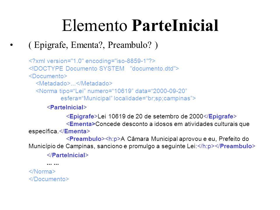 Elemento ParteInicial