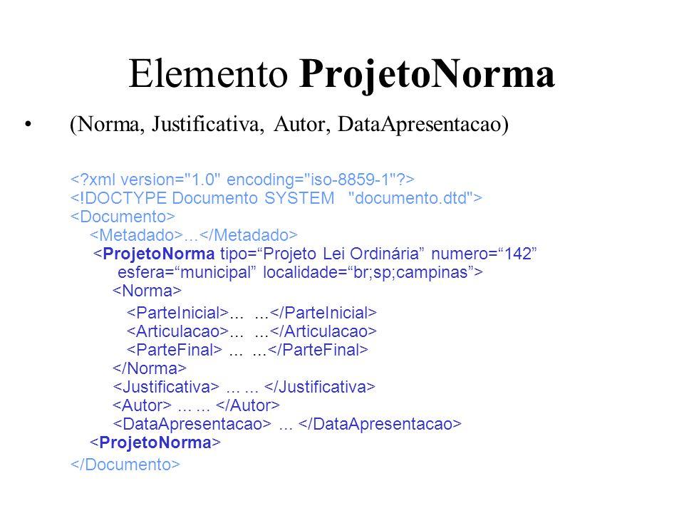 Elemento ProjetoNorma