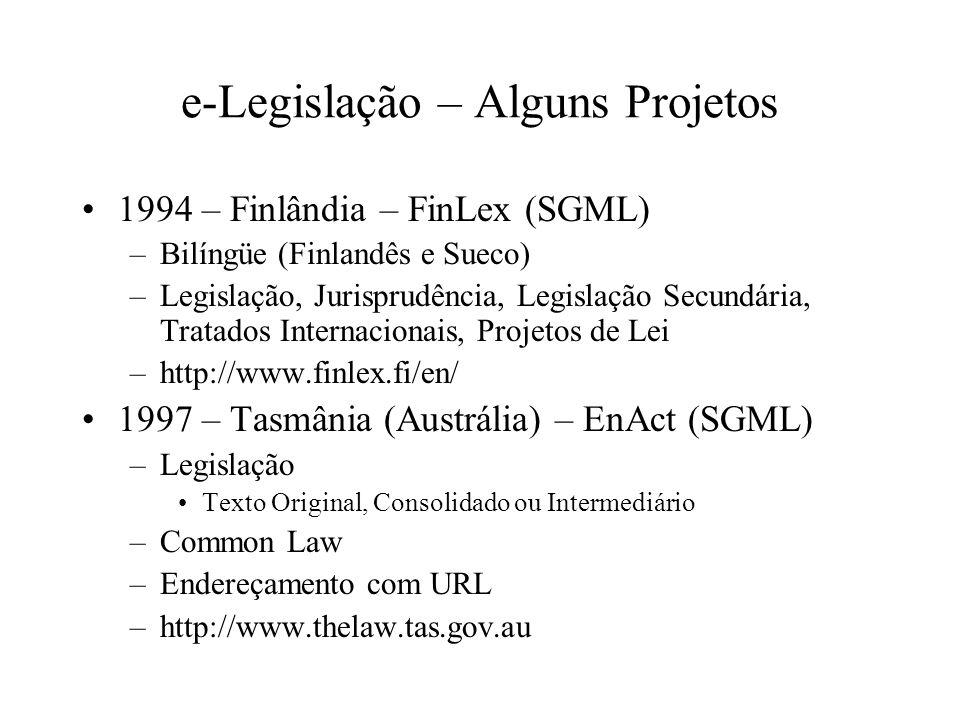 e-Legislação – Alguns Projetos