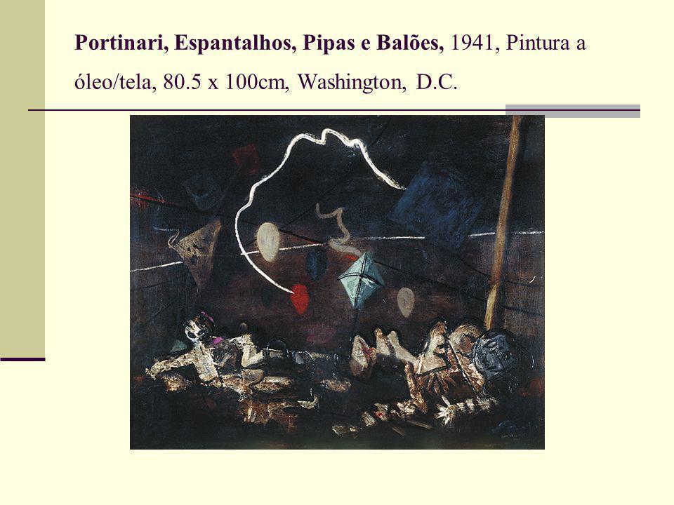 Portinari, Espantalhos, Pipas e Balões, 1941, Pintura a óleo/tela, 80