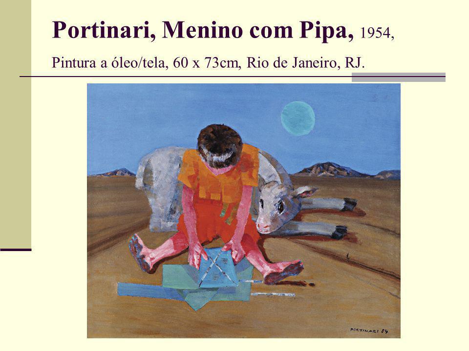 Portinari, Menino com Pipa, 1954, Pintura a óleo/tela, 60 x 73cm, Rio de Janeiro, RJ.