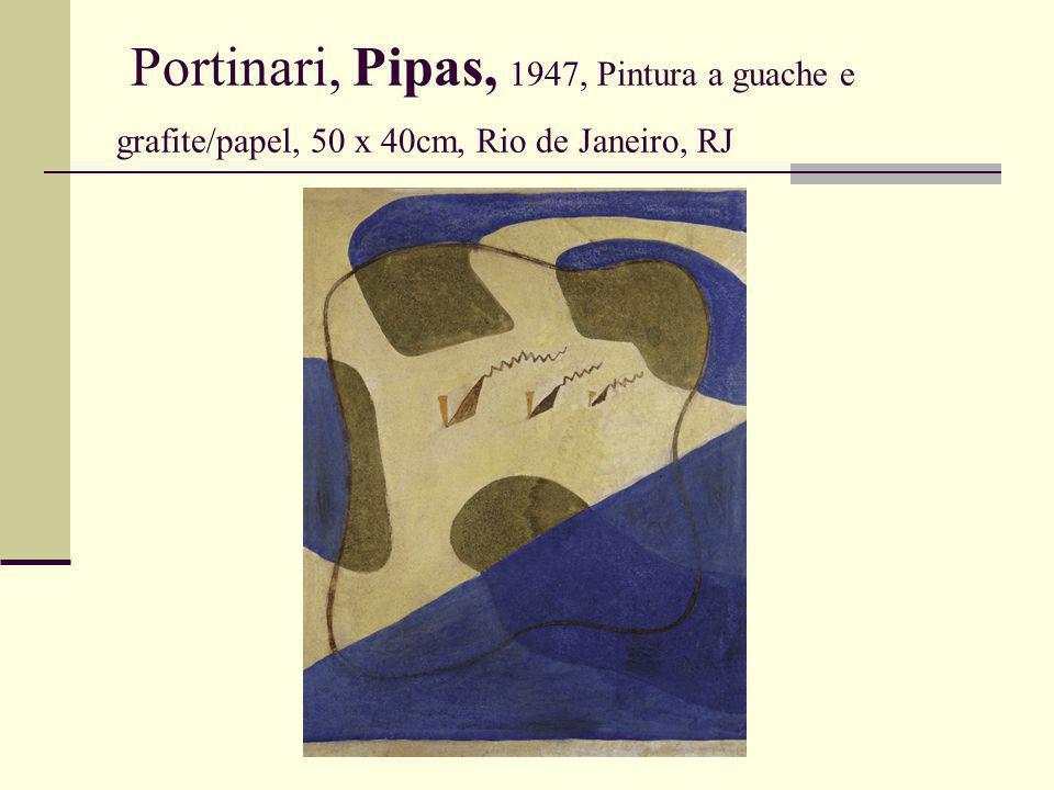 Portinari, Pipas, 1947, Pintura a guache e grafite/papel, 50 x 40cm, Rio de Janeiro, RJ