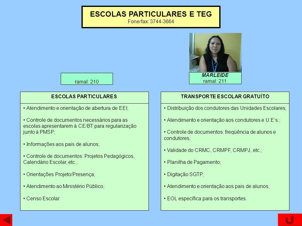 ESCOLAS PARTICULARES E TEG TRANSPORTE ESCOLAR GRATUÍTO