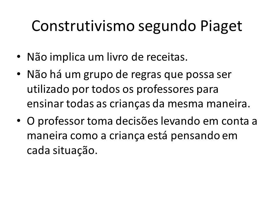 Construtivismo segundo Piaget