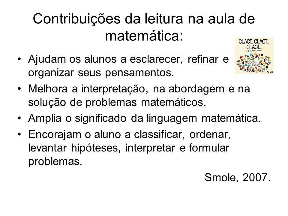 Contribuições da leitura na aula de matemática: