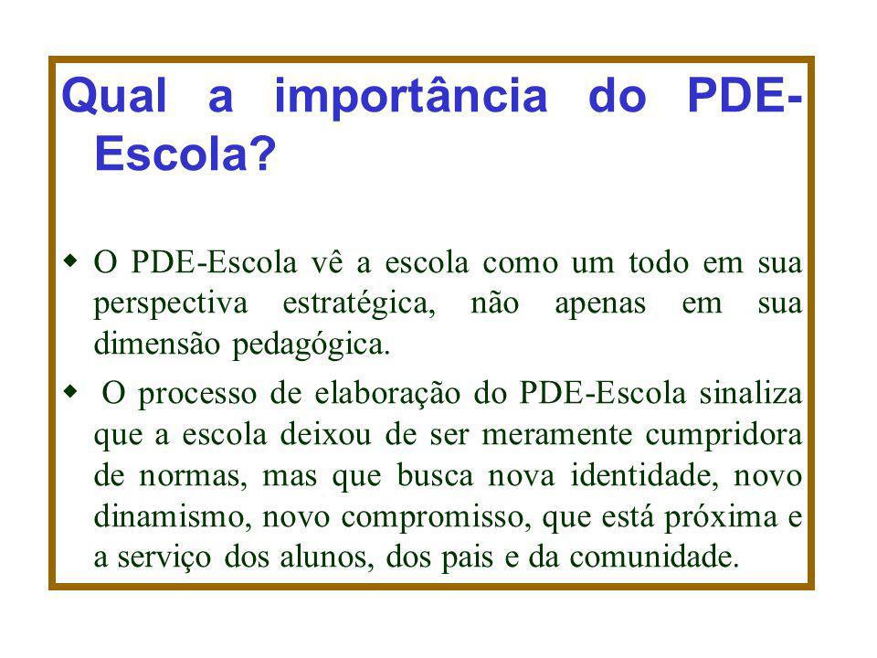 Qual a importância do PDE- Escola
