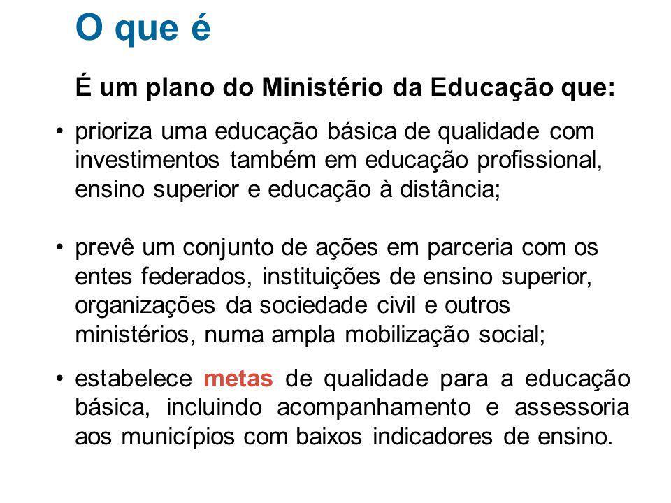 O que é É um plano do Ministério da Educação que: