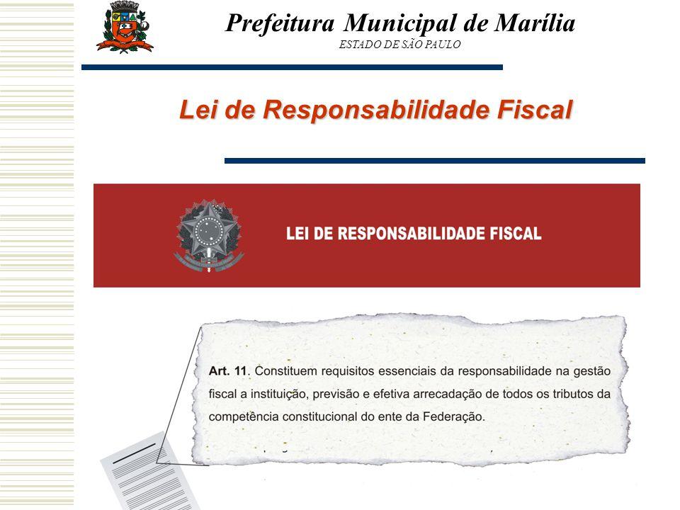 Prefeitura Municipal de Marília Lei de Responsabilidade Fiscal