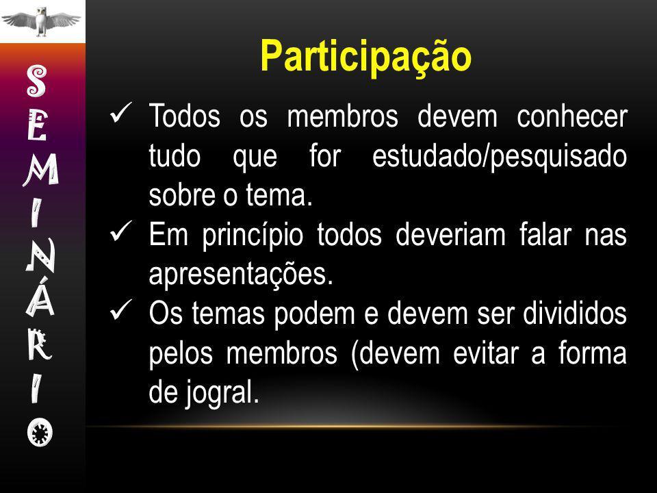 Participação SEMINÁRIO