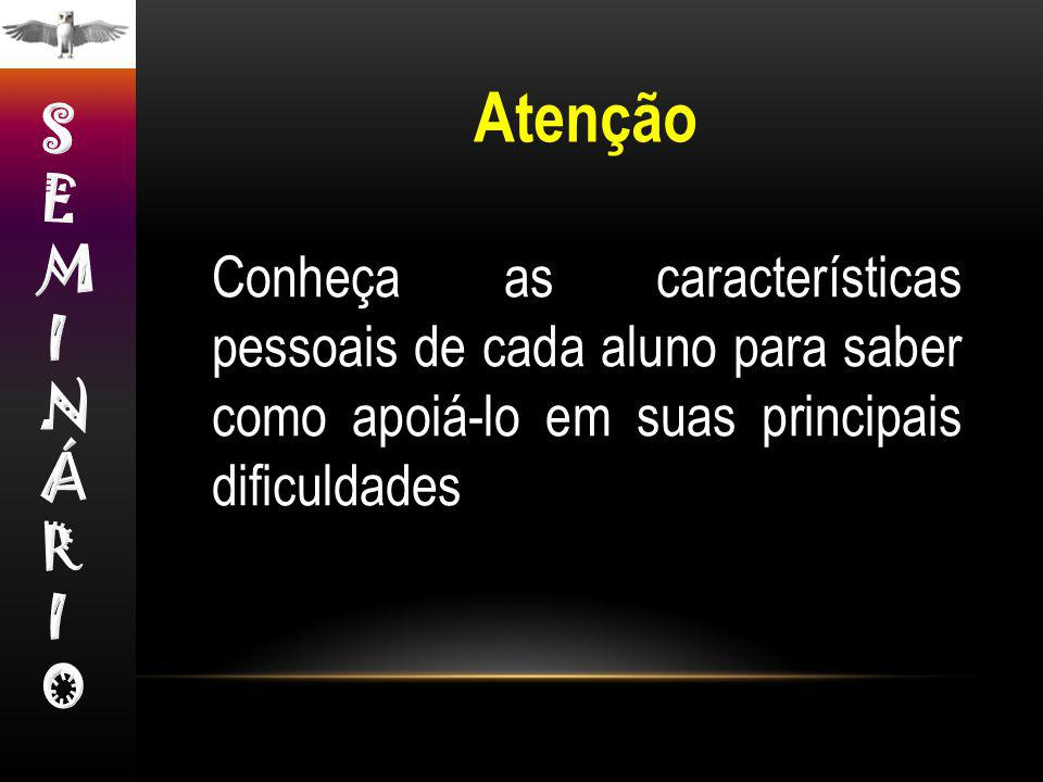 Atenção SEMINÁRIO.