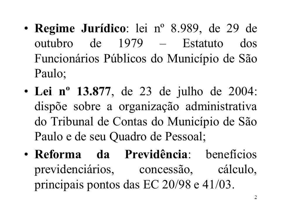 Regime Jurídico: lei nº 8