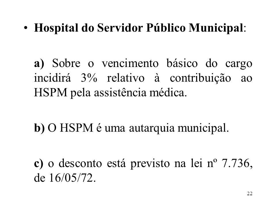 Hospital do Servidor Público Municipal: