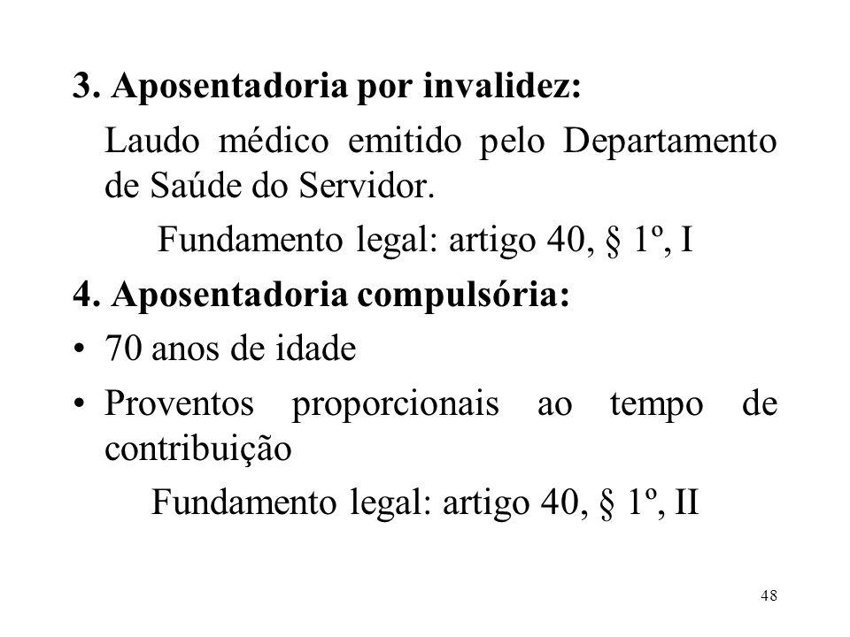 3. Aposentadoria por invalidez: