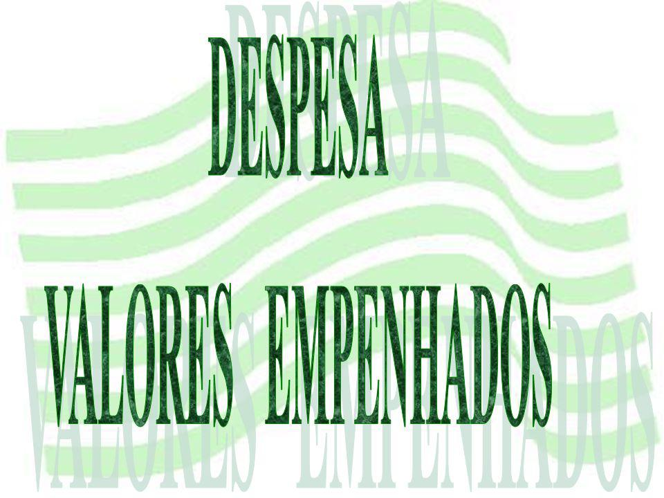 DESPESA VALORES EMPENHADOS