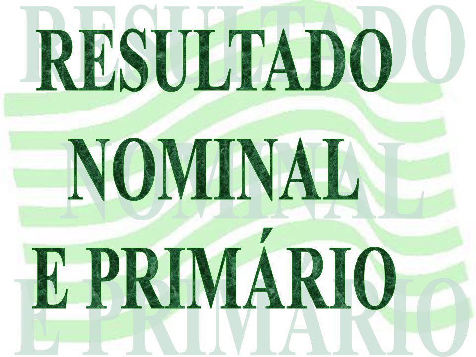 RESULTADO NOMINAL E PRIMÁRIO