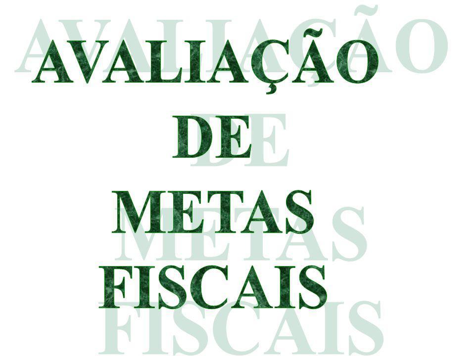 AVALIAÇÃO DE METAS FISCAIS