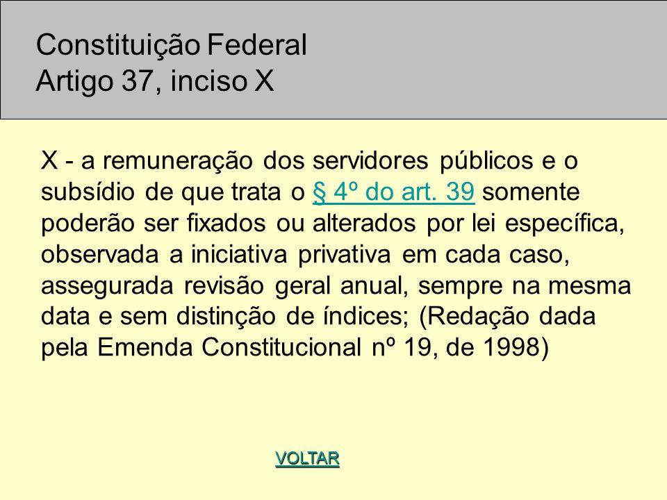 Constituição Federal Artigo 37, inciso X