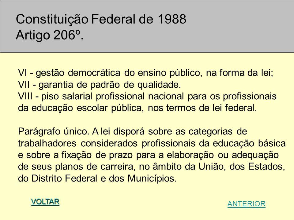 Constituição Federal de 1988 Artigo 206º.