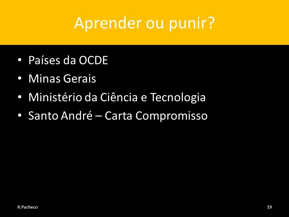 Aprender ou punir Países da OCDE Minas Gerais