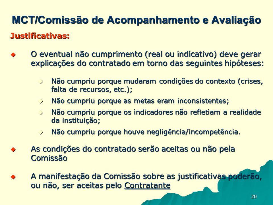 MCT/Comissão de Acompanhamento e Avaliação