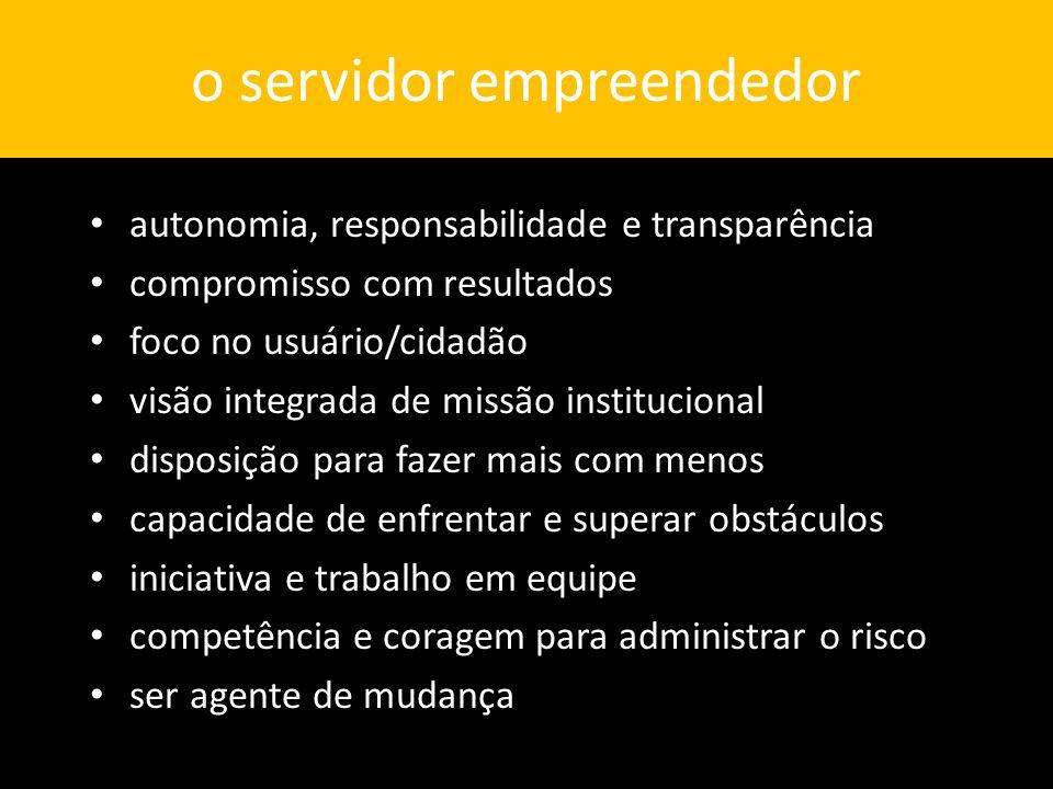 o servidor empreendedor