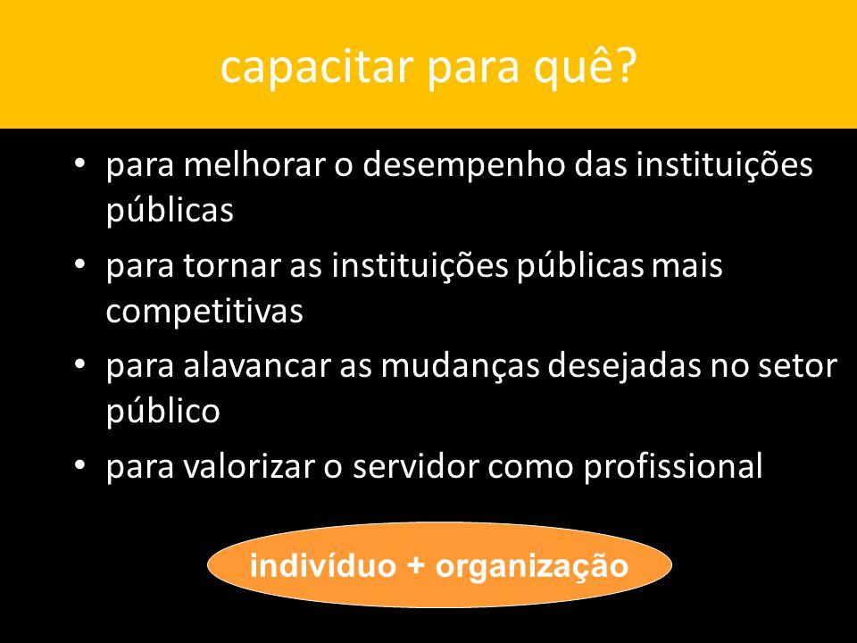 indivíduo + organização