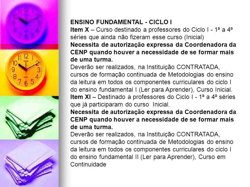 ENSINO FUNDAMENTAL - CICLO I