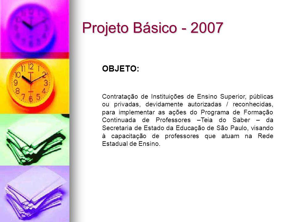 Projeto Básico - 2007 OBJETO: