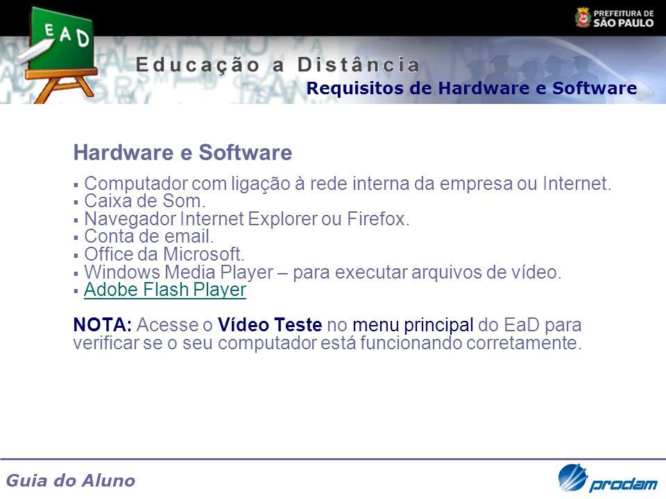 Requisitos de Hardware e Software