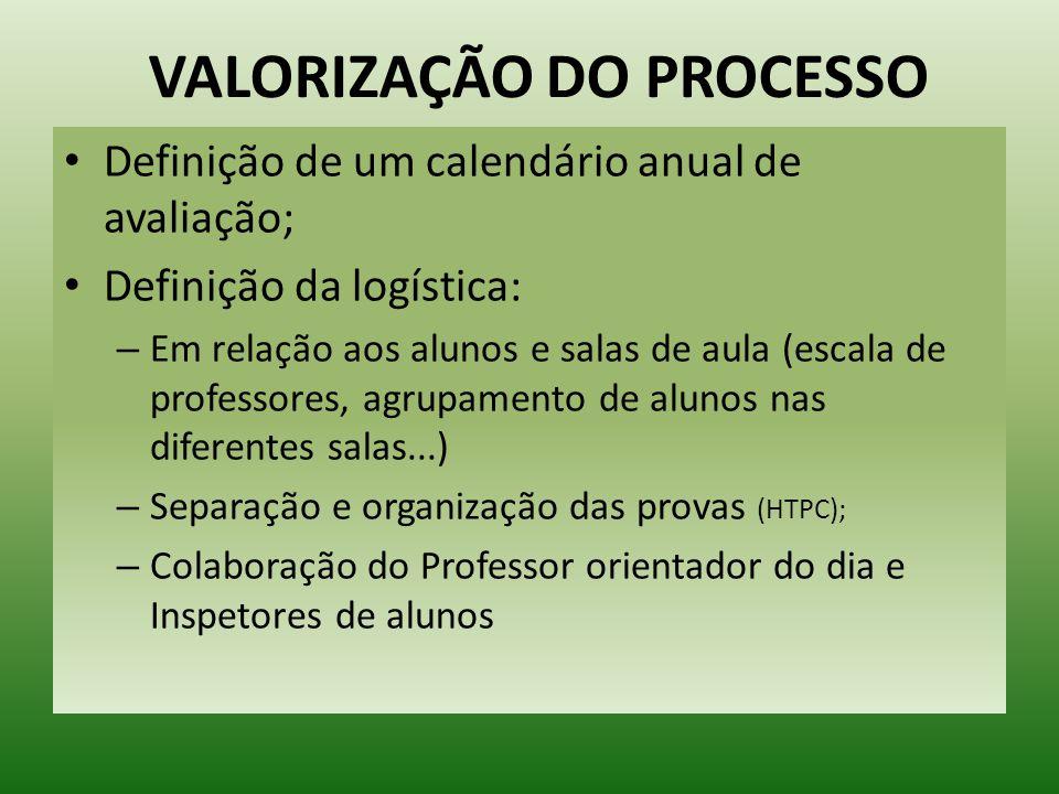 VALORIZAÇÃO DO PROCESSO