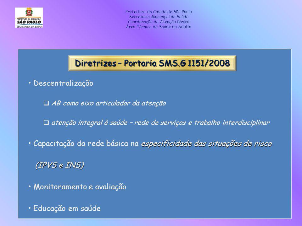 Diretrizes – Portaria SMS.G 1151/2008