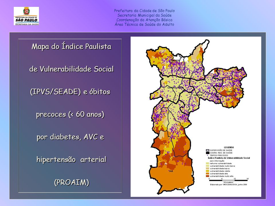 Mapa do Índice Paulista