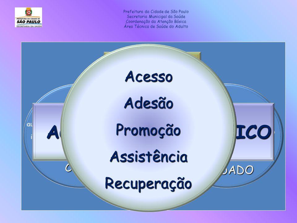 AGUDO CRÔNICO Acesso Adesão Promoção Assistência Recuperação CURA