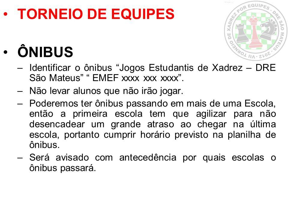 TORNEIO DE EQUIPES ÔNIBUS