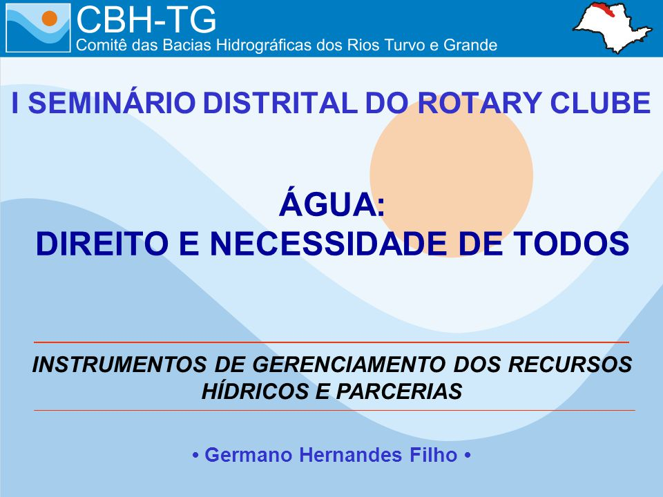 I SEMINÁRIO DISTRITAL DO ROTARY CLUBE