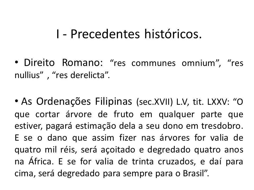 I - Precedentes históricos.
