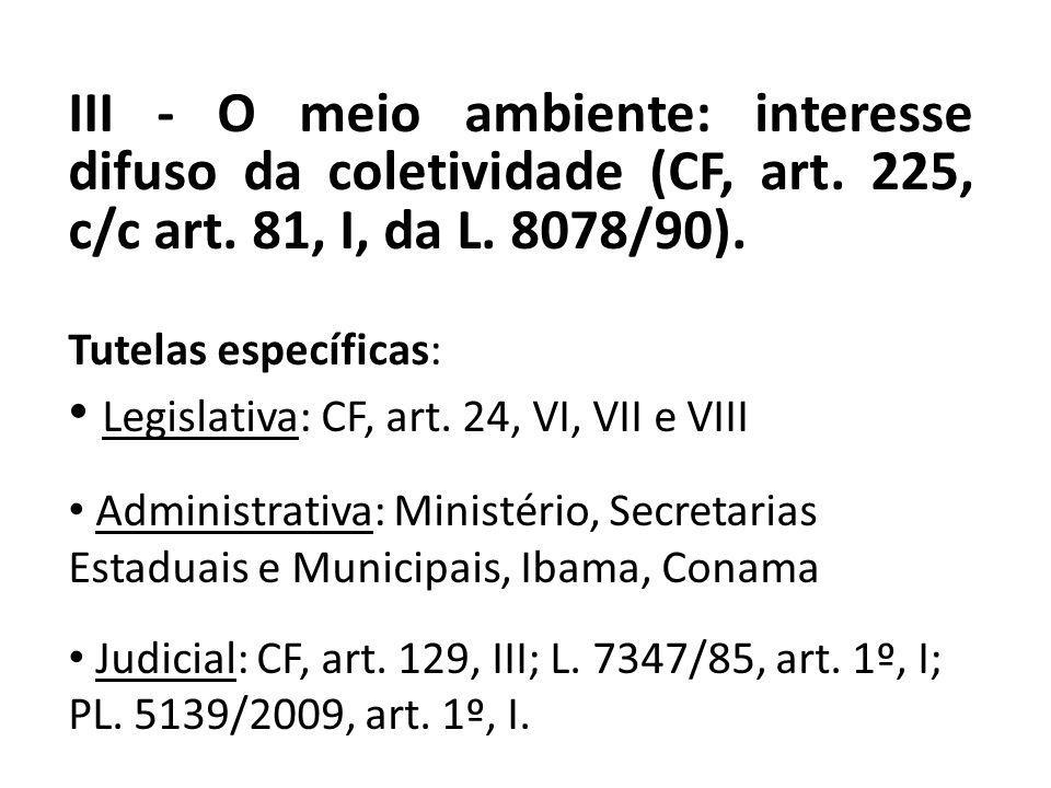 Legislativa: CF, art. 24, VI, VII e VIII