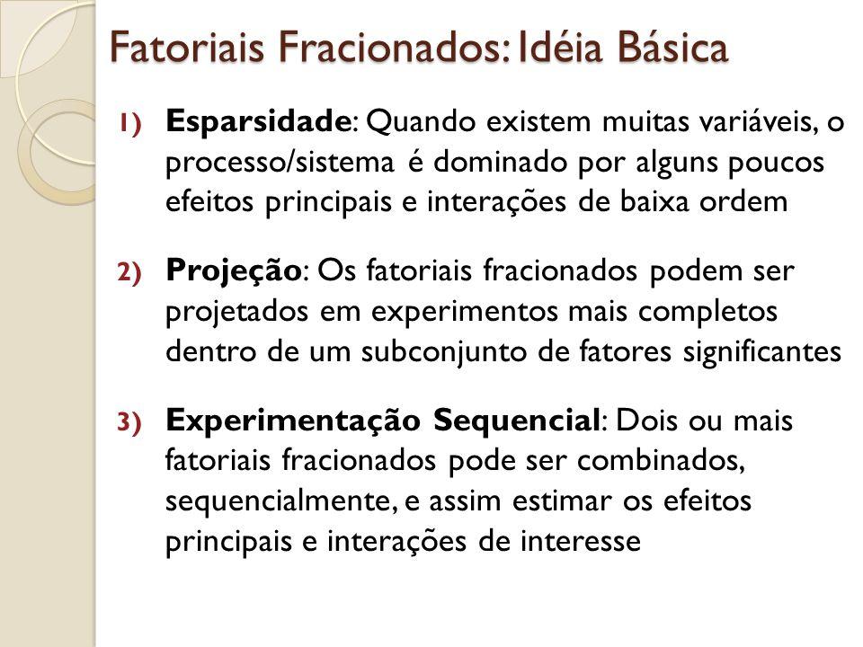 Meia Fração (1/2) do Fatorial 2k ou Fatorial 2k – 1