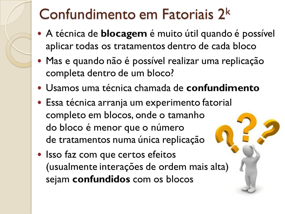 Confundimento em Fatoriais 2k