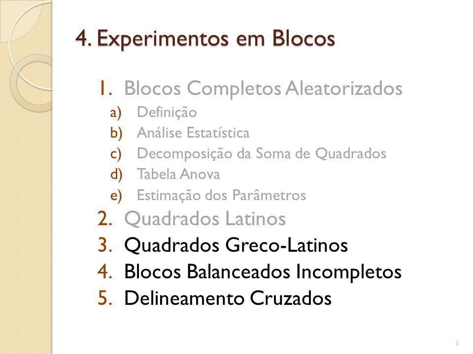 Planejamento em Quadrado Latino