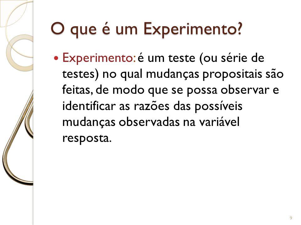 O que é um Experimento