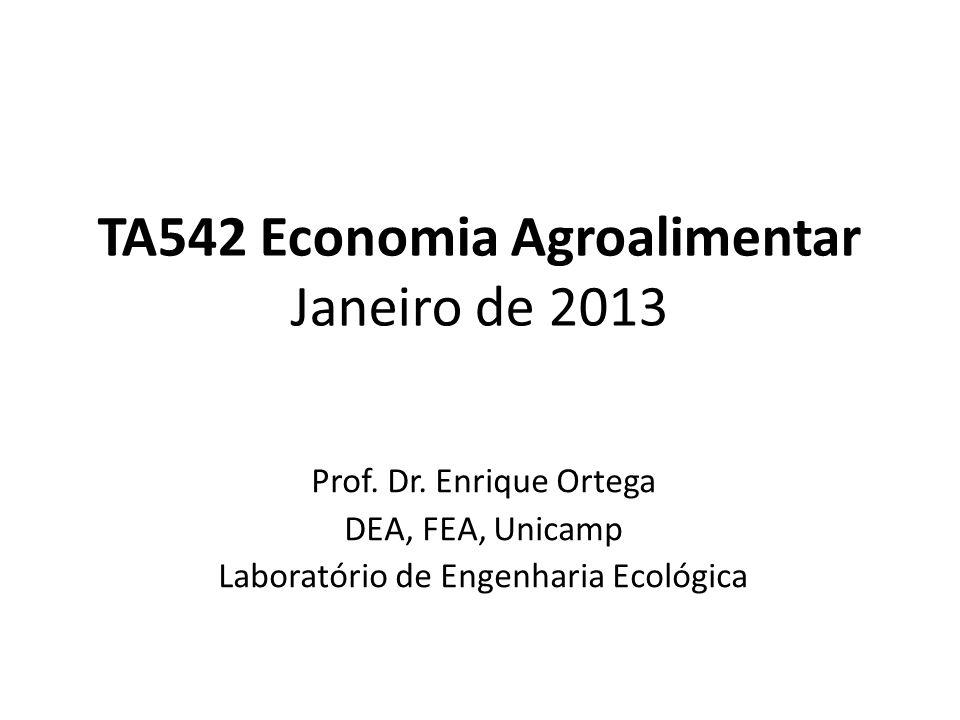 TA542 Economia Agroalimentar Janeiro de 2013