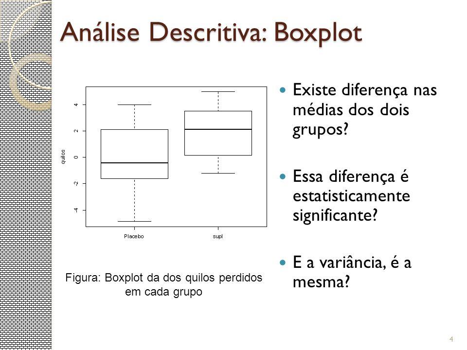 Análise Descritiva: Boxplot